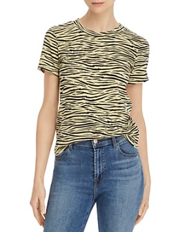 Enza Costa - Perfect Zebra-Printed Tee