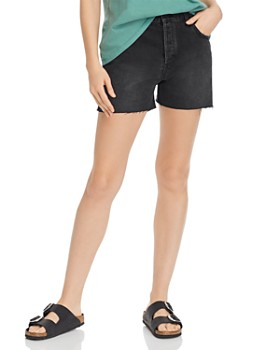 Anine Bing - Bonnie Denim Cutoff Shorts in Charcoal
