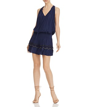 Ramy Brook - Kai Smocked Grommet Mini Dress