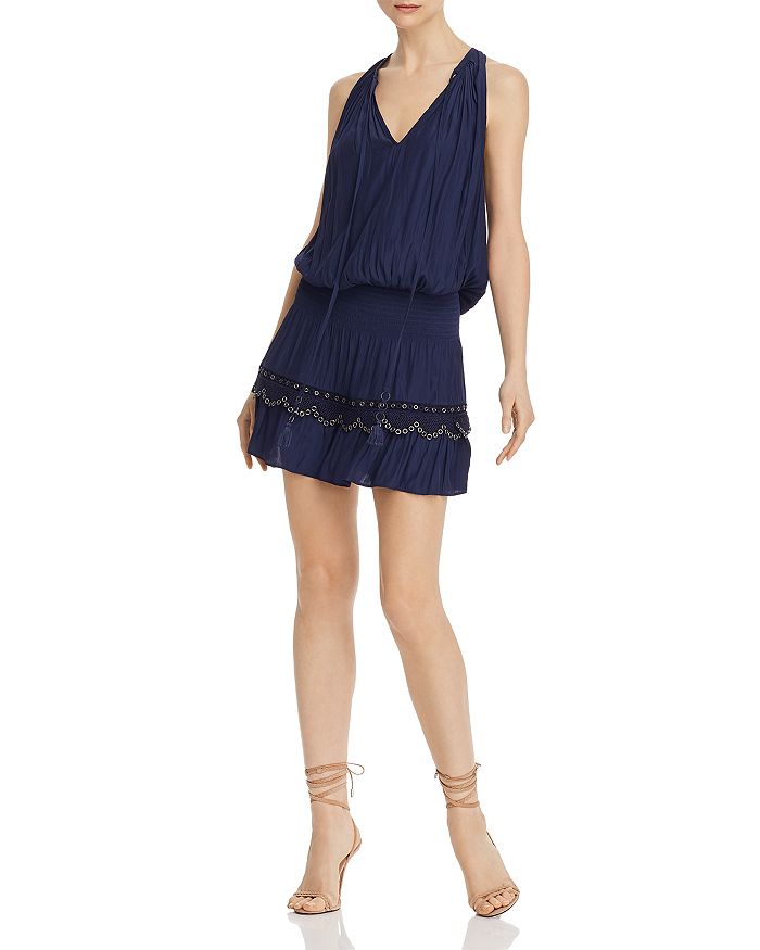 Ramy Brook - Kai Smocked Grommet Mini Dress