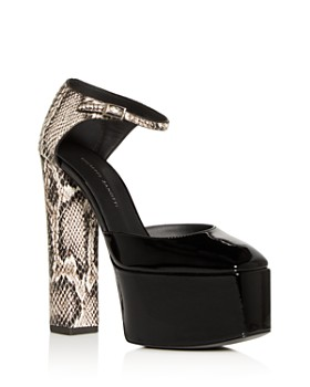 Giuseppe Zanotti - Women's Embossed Platform Block-Heel Pumps