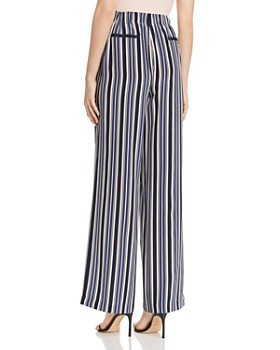 Lafayette 148 New York - Columbus Silk Striped Wide-Leg Pants