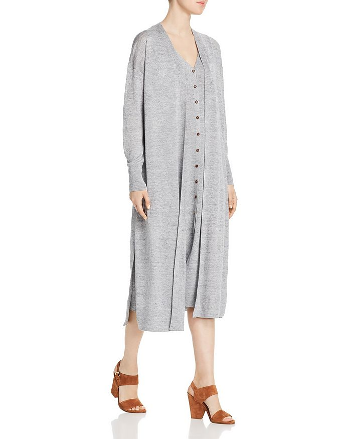 Lafayette 148 New York - Open-Front Mélange Duster Cardigan