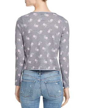 CHASER - Floral-Print Long-Sleeve Tee