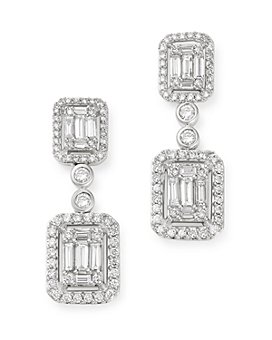 Bloomingdale's - Diamond Mosaic Drop Earrings in 14K White Gold, 2.0 ct. t.w. - 100% Exclusive