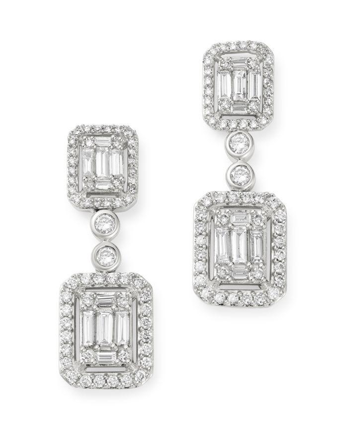 Bloomingdale's Diamond Mosaic Drop Earrings in 14K White Gold, 2.0 ct. t.w. - 100% Exclusive    Bloomingdale's