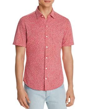 8b5941877 BOSS Hugo Boss - Robb Short-Sleeve Floral-Print Regular Fit Shirt ...