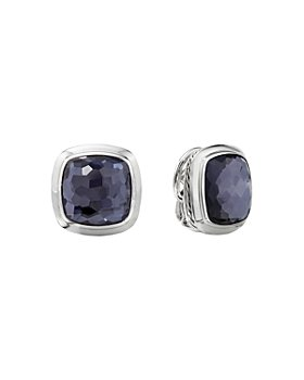 David Yurman - Sterling Silver Albion Black Orchid Stud Earrings