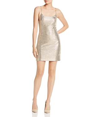 Alice + Olivia Nelle Metallic Mini Dress