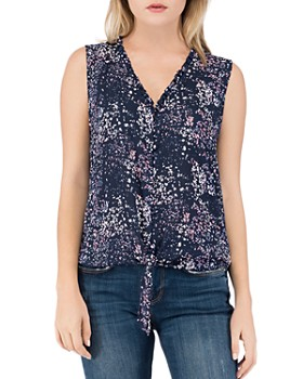 B Collection by Bobeau - Gabrielle Printed Button-Down Top