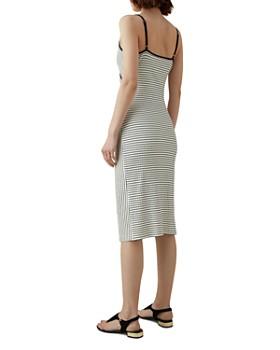 KAREN MILLEN - Striped Ruched Jersey Dress