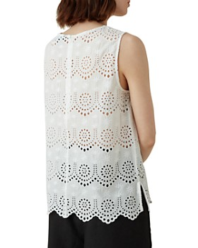 KAREN MILLEN - Scalloped Eyelet Top