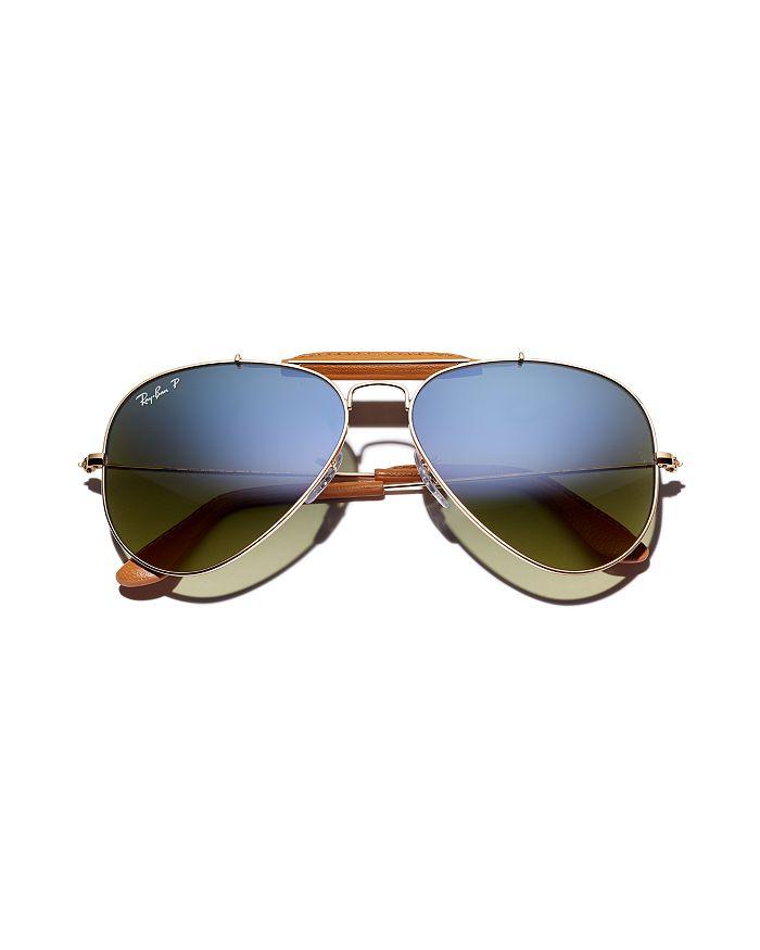 9e95ce09a Ray-Ban Unisex Outdoorsman Polarized Aviator Craft Sunglasses, 58mm ...