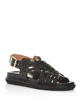 Marni - Women's Fussbett Woven Slingback Platform Sandals