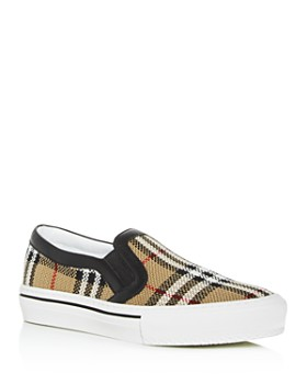 2c9d0cfb5dc447 Burberry - Women's Delaware Vintage Check Slip-On Sneakers ...