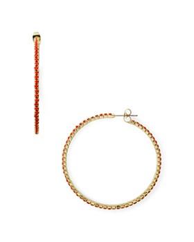 AQUA - Pavé Hoop Earrings - 100% Exclusive
