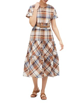 58366e3b04d7 Lafayette 148 New York - Lafayette 148 New York Angelique Plaid Tiered Dress  ...