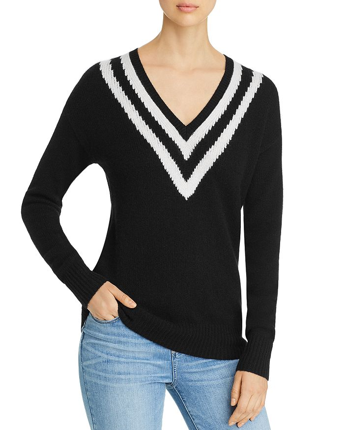 C by Bloomingdale's - Varsity-Stripe Cashmere Sweater - 100% Exclusive