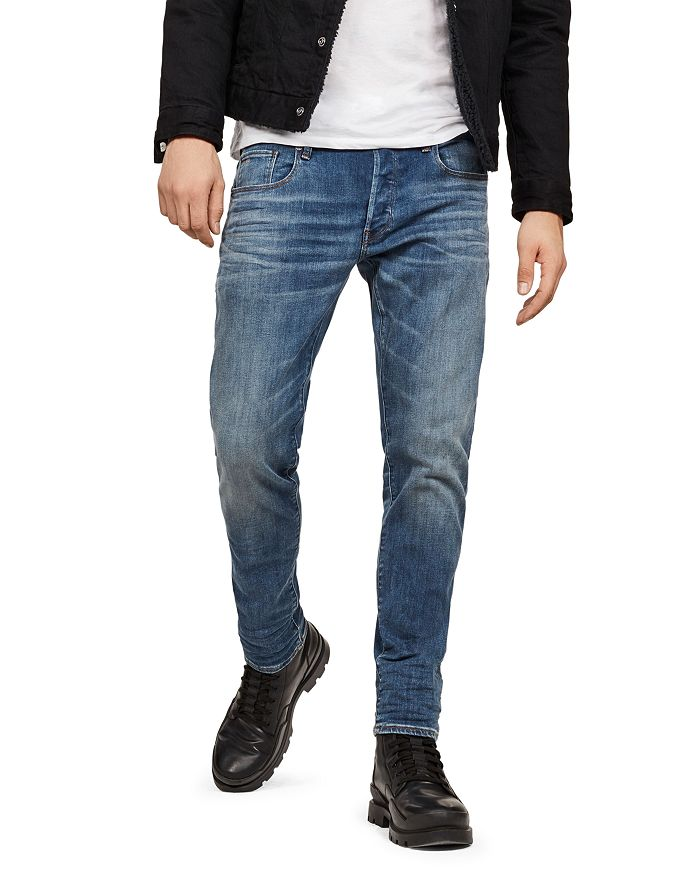 c3bed22d G-STAR RAW 3301 Slim Fit Jeans in Medium Age | Bloomingdale's
