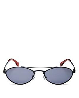 Le Specs Luxe - Unisex Liaison Brow Bar Oval Sunglasses, 55mm