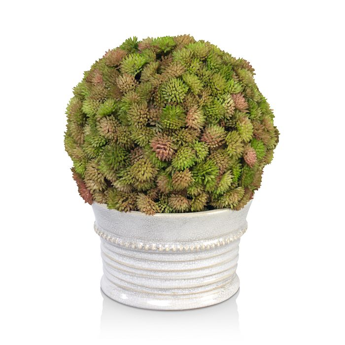 Diane James Home - Sedum Ball Faux Floral in Ceramic Pot