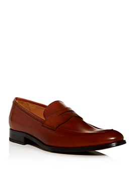 To Boot New York - Men's Dearborn Apron-Toe Leather Penny Loafers