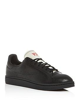 Y-3 - Men's Yohji Court Leather Low-Top Sneakers