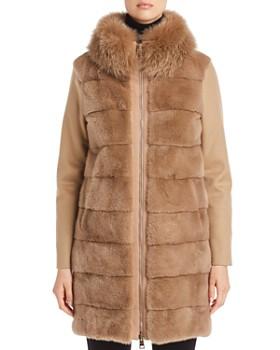Herno - Mink & Fox Fur-Trim Cashmere Coat