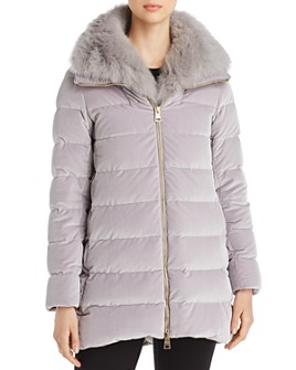 Herno - Fur-Collar Velvet Down Coat - 100% Exclusive