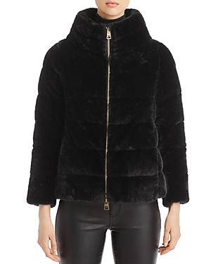 Herno Faux Fur Short Cape Down Coat-Women