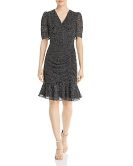 Adrianna Papell - Darling Dot Shirred Mini Dress