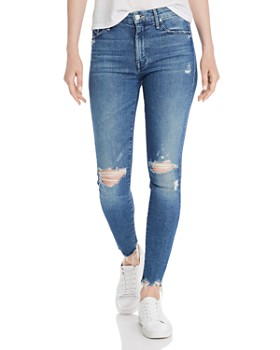 MOTHER - The Looker High-Rise Rainbow Ankle Skinny Jeans in Learning to Hula