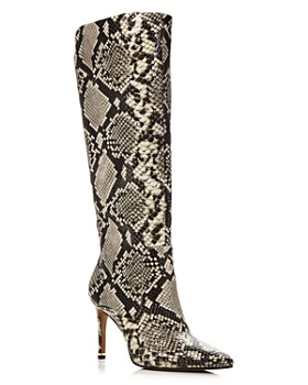 Kenneth Cole - Women's Riley Snake-Print Tall Boots - 100% Exclusive