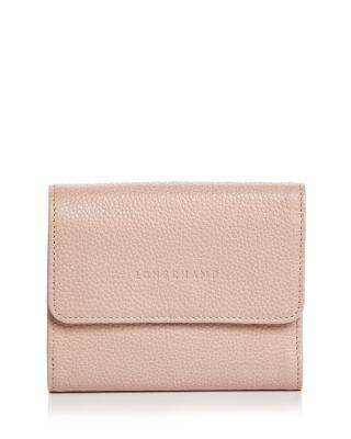 Longchamp Le Foulonné Leather Compact Wallet | Bloomingdale's