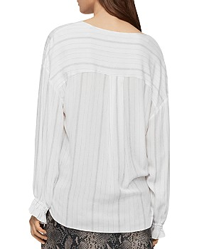 ALLSAINTS - Penny Striped Crossover Top