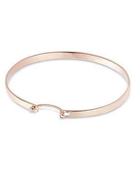 Nouvel Heritage - 18K Rose Gold Business Meeting Mood Diamond Bangle Bracelet