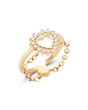 Nouvel Heritage - 18K Yellow Gold Mystic Diamond Medium Love Ring