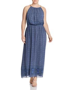 MICHAEL Michael Kors Plus - Monaco Tile-Print Maxi Dress
