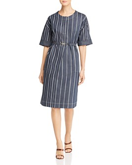 Donna Karan - Striped Shift Dress