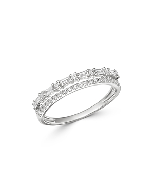Bloomingdale's Diamond Double-Row Band in 14K White Gold, 0.35 ct. t.w. - 100% Exclusive