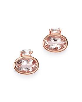 Bloomingdale's - Gemstone & Diamond-Accent Stud Earrings in 14K Rose Gold - 100% Exclusive