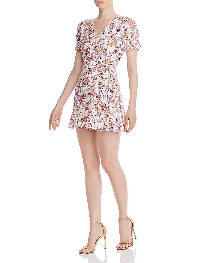 AQUA - Floral Paisley Wrap Dress - 100% Exclusive