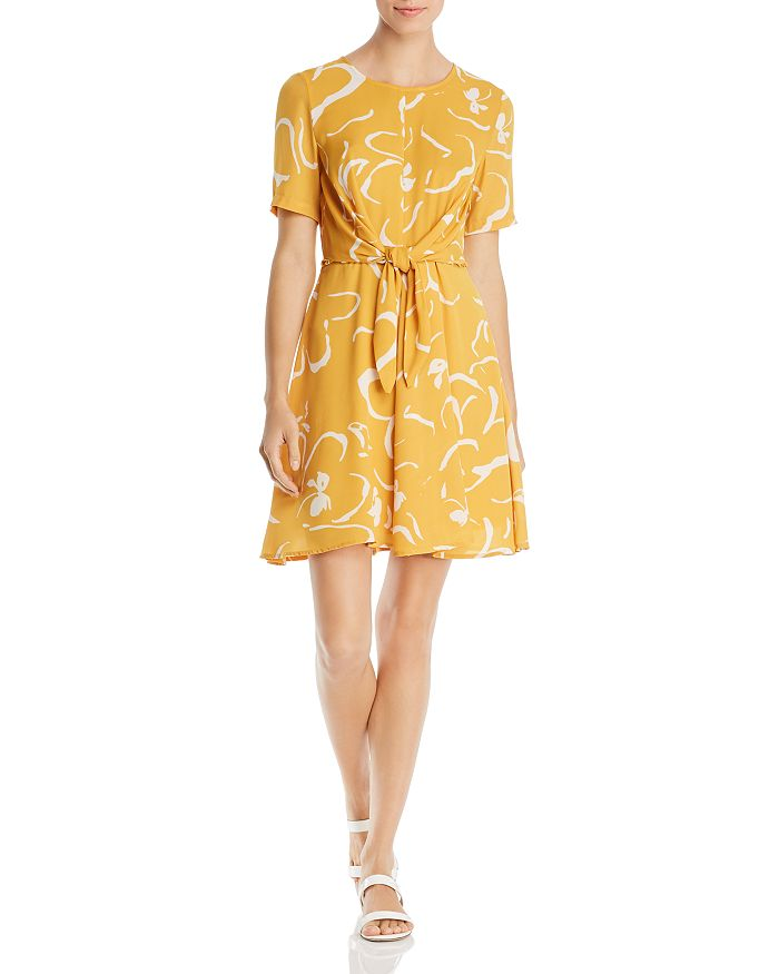 Vero Moda - Ilona Abstract Floral-Print Tie-Front Dress