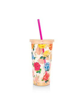 ban.do - Coming Up Roses Sip Sip Tumbler with Straw