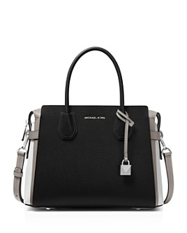 MICHAEL Michael Kors - Mercer Medium Belted Color-Block Satchel