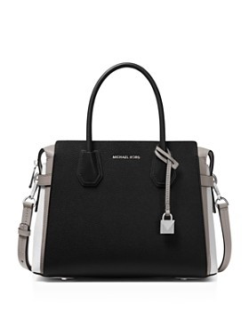 c10cf932f420 MICHAEL Michael Kors - Mercer Medium Belted Color-Block Satchel ...