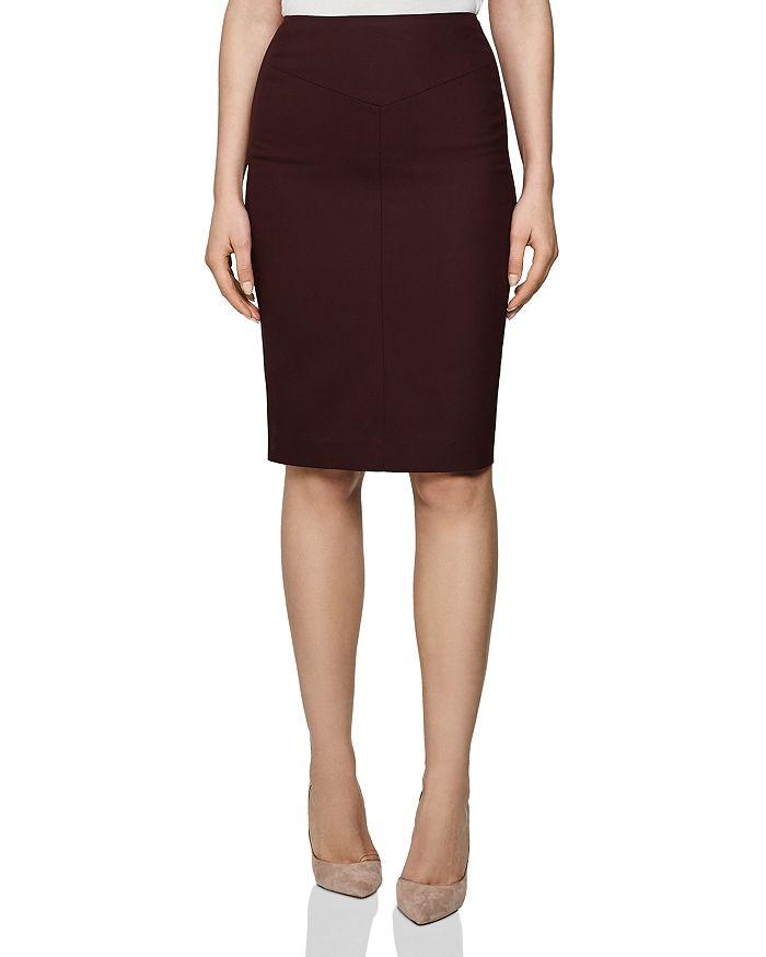 REISS - Lissia Textured Skirt