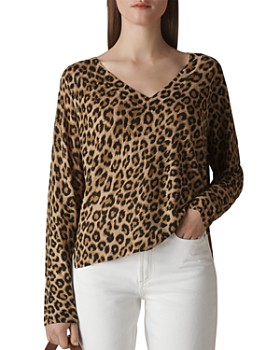 ee6b7f57ceaf48 Whistles - Leopard-Printed Linen Sweater ...