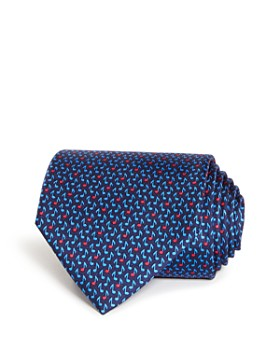 Salvatore Ferragamo - Musical Note Print Silk Classic Tie