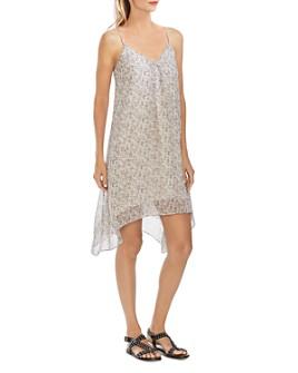 VINCE CAMUTO - Floral Handkerchief-Hem Slip Dress